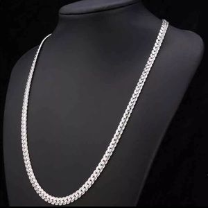 """Accessories - 22"""" Unisex 18K Real White Gold Plated Necklace"""